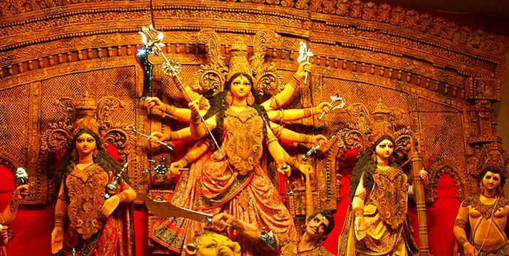 What is the date and time of Ghatasthapana for Shardiye Navratri